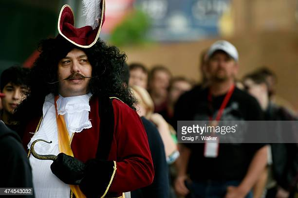 William Randol dressed as Captain Hook during Denver Comic Con at the Colorado Convention Center in Denver CO May 23 2015 In only its fourth year the...