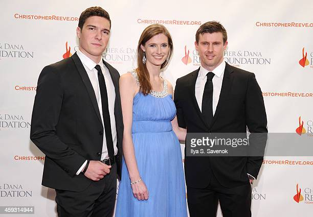 William Reeve Alexandra Reeve Givens and Matthew Reeve attend The Christopher Dana Reeve Foundation Hosts A Magical Evening on November 20 2014 in...