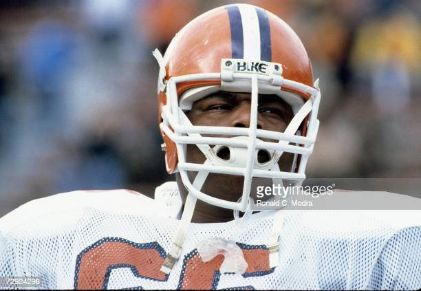William Refrigerator Perry of the Clemson Tigers during a game against the University of Maryland Terrapins on November 13 1982 in College Park...