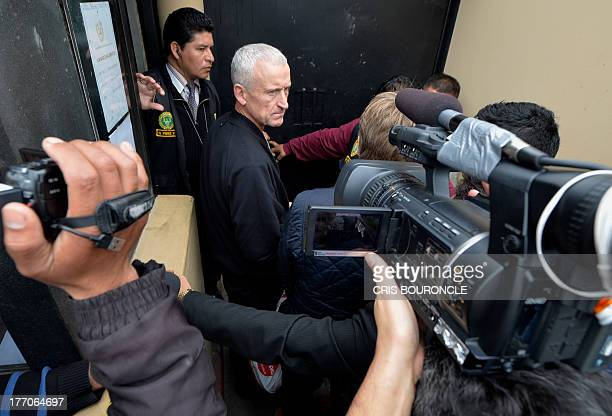 William Reid father of the British youth Melissa Reid who was arrested on August 6 2013 at Lima's airport carrying cocaine in her luggage is pictured...