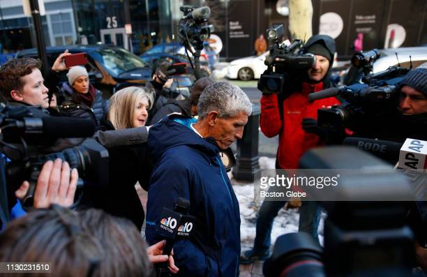 William Rick Singer leaves the John Joseph Moakley United States Courthouse in Boston on March 12 2019 Fifty people have been arrested nationwide in...