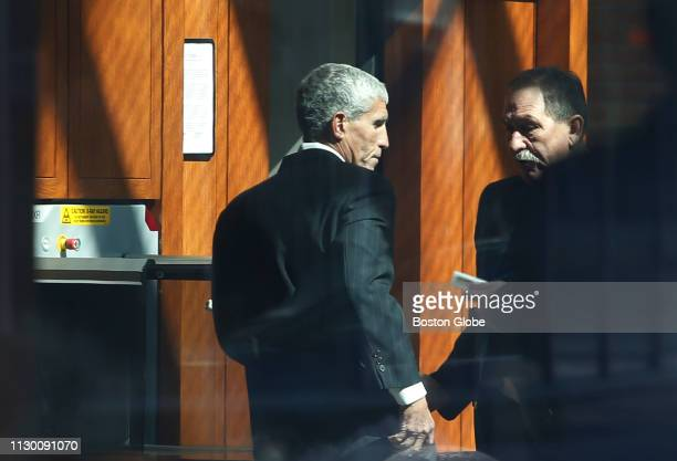 William 'Rick' Singer walks into the John Joseph Moakley United States Courthouse in Boston on March 12 2019 Fifty people have been arrested...