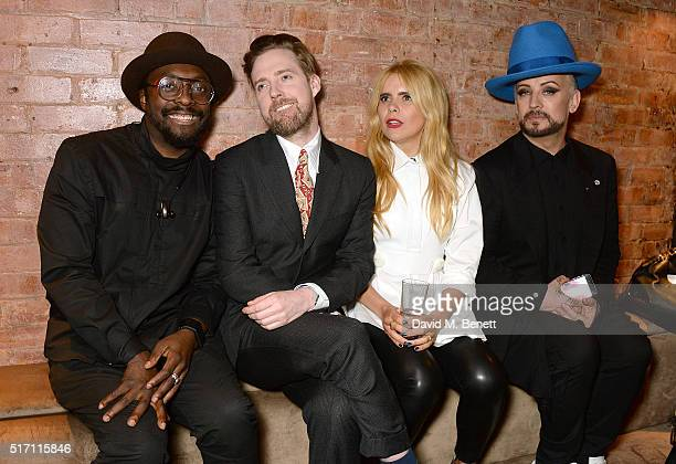 william Ricky Wilson Paloma Faith and Boy George attend The Voice UK Open Mic Night at The Scotch of St James on March 23 2016 in London England