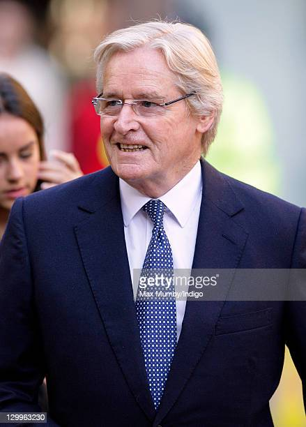 William Roache attends the funeral of 'Coronation Street' actress Betty Driver at St Ann's Church on October 22 2011 in Manchester England