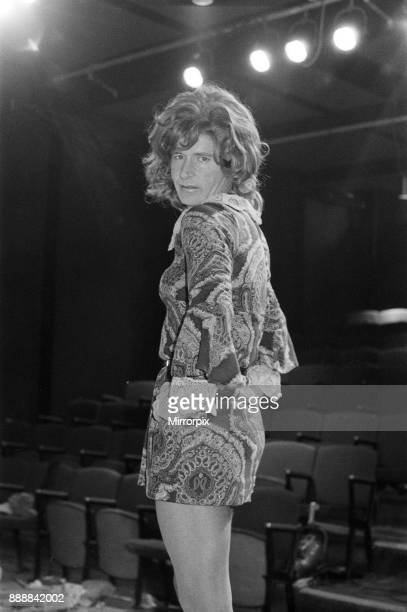 William Roache wearing a mini dress for John Bowen's play 'The Disorderly Women' at the Stables Theatre Club in London England on 3rd November 1970...