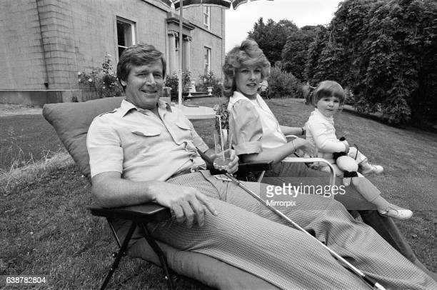William Roache with his wife Sarah and their daughter Verity at their home 17th July 1983