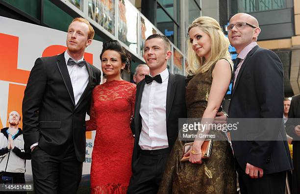 William Ruane Jasmin Riggins Paul Brannigan Siobhan Reilly and Gary Maitland attend the The Angels' Share UK premiere at Cineworld Glasgow on May 29...