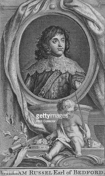 William Russel Earl of Bedford' circa 1742 English politician who sat in the House of Commons from 1640 until 1641 fought in the Parliamentarian army...