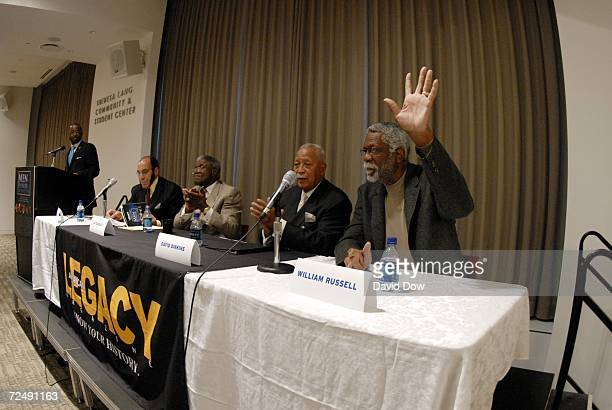 William Russell David Dinkins Ed Charles and Earl G Graves attend the Men of Honor and Distinction awards sponsored by American Legacy Magazine and...
