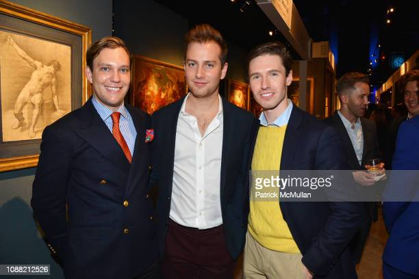 William Rutledge Spencer Gervasoni and Andrew Nodell attend Wendy Goodman and Zac Posen Host Young Collector's Night at the Winter Show A Benefit For...