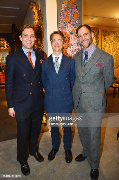 William Rutledge Wolf Burchard and Cator Sparks attend Wendy Goodman and Zac Posen Host Young Collector's Night at the Winter Show A Benefit For East...