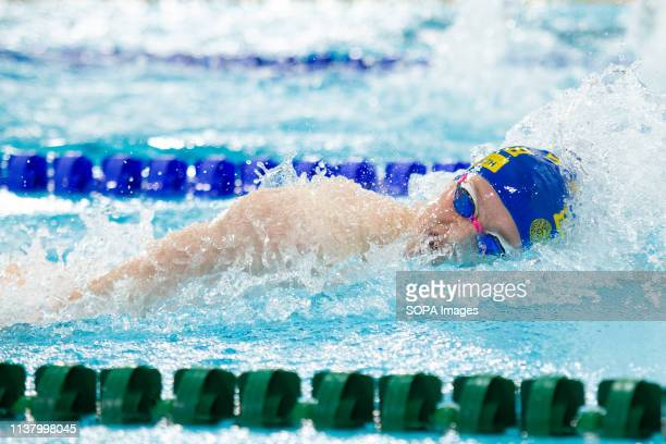 William Ryley in action during the men's open 1,500 metres freestyle last heat, during Day 3 of the 2019 British Swimming Championships, at Tollcross...
