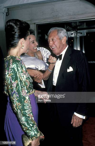 William S Paley and guests during William S Paley at Maxim's Restaurant September 26 1985 at Maxim's Restaurant in New York City New York United...