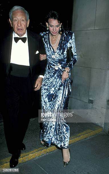 William S Paley and Lally Weymouth during Barbara Walters's Four Month Wedding Anniversary Celebration at The Pierre Hotel in New York City New York...