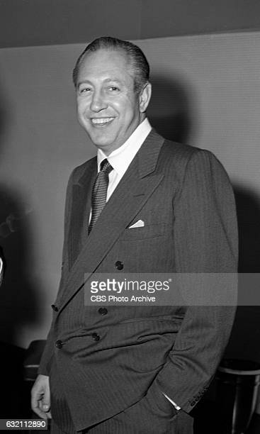 William S Paley at the CBS executive Christmas party Image dated December 24 1947 New York NY