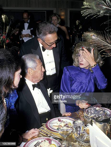 William S Paley Henry Kissinger and wife during National Conference of Christians and Jews Humanitarian Awards Dinner at The Waldorf Astoria Hotel in...