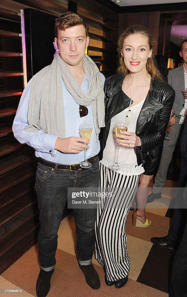 William Scott Moncrieff and Charlotte Flyvholm attend Christian Furr and Chris Bracey 'Staying Alive' Private View at 45 Park Lane on July 3, 2013 in London, England.
