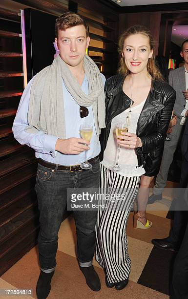 William Scott Moncrieff and Charlotte Flyvholm attend Christian Furr and Chris Bracey 'Staying Alive' Private View at 45 Park Lane on July 3 2013 in...