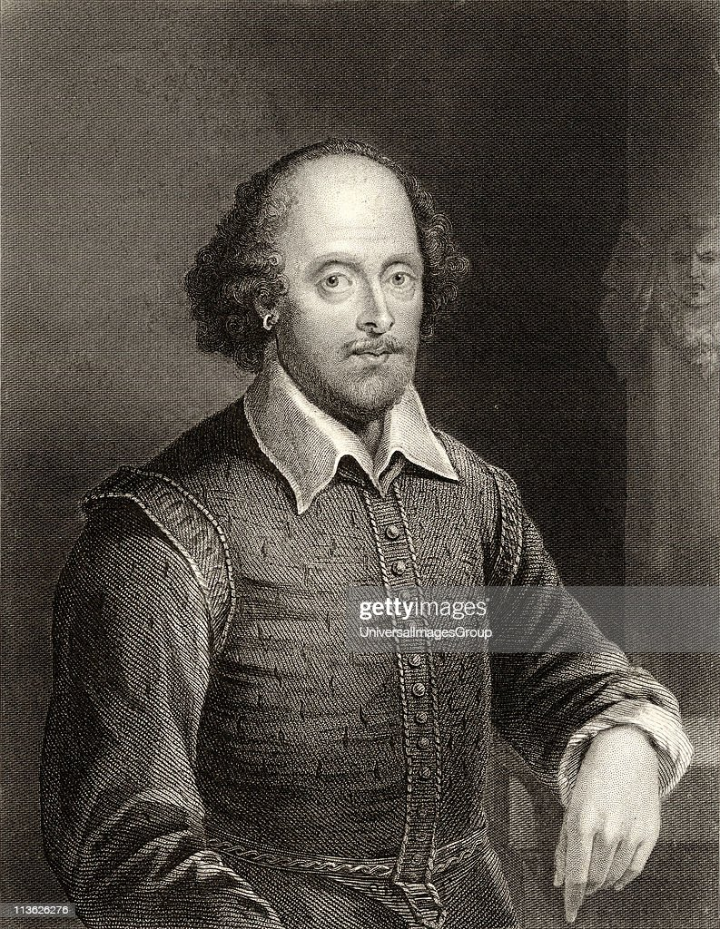 William Shakespeare, 1564-1616. English poet and dramatist. Engraved by William Holl.