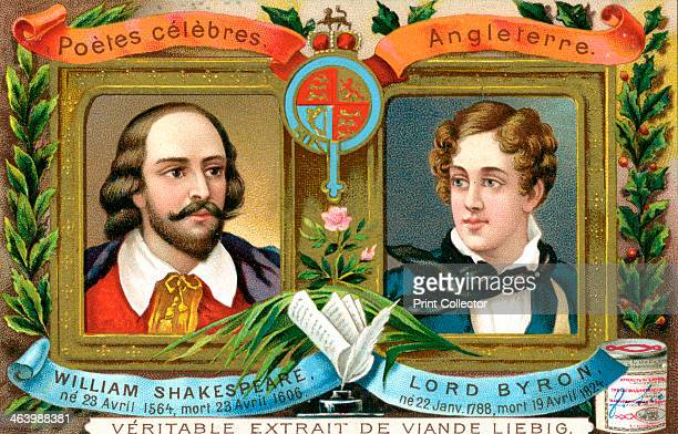 William Shakespeare and Lord Bryron c1900 English poets of the 16th and 19th century French advertising for Liebig extract of meat c1900