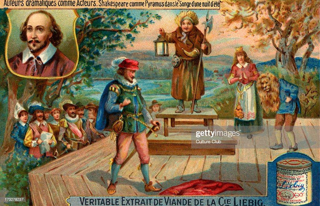 William Shakespeare as Pyramus : News Photo