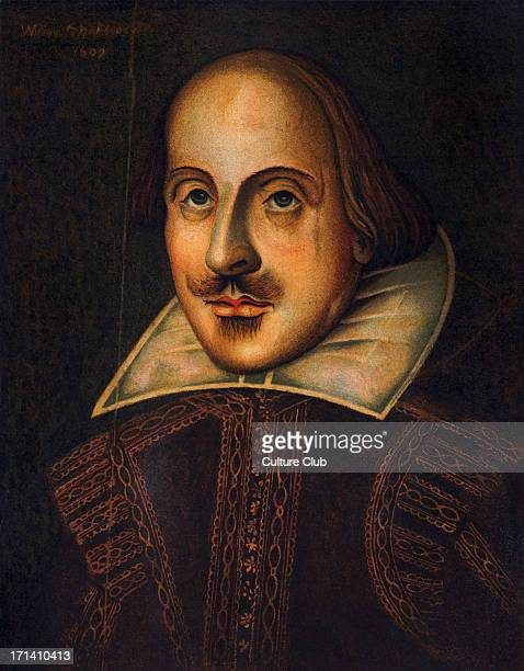 William Shakespeare English author playwright portrait April 1564May 3 1616 copy from original in oils 1609 accepted as portrait engraved by...