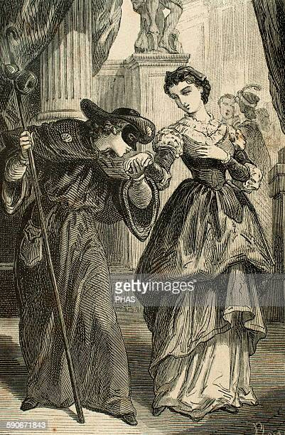 William Shakespeare . English writer. Romeo and Juliet. Romeo disguised as a pilgrim in a masked ball celebrated in the palace of Capulets....