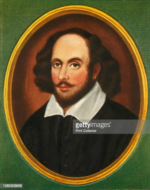 William Shakespeare' Portrait of influential English literary figure William Shakespeare playwright of the Elizabethan era After the miniature by...