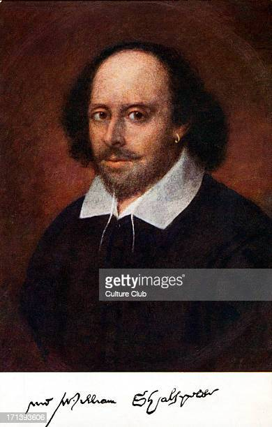 William Shakespeare portrait with signature Painting may be by Richard Burbage English playwright