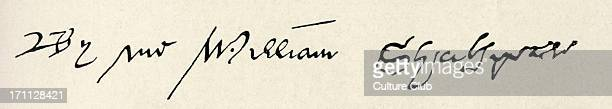 William Shakespeare signature English author playwright April 1564 3 May 1616 from his will at Somerset House