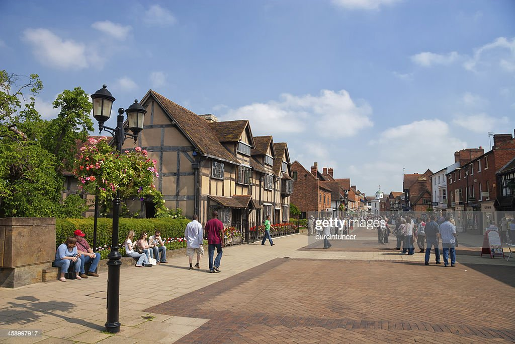 William Shakespeare's birthplace in Strartford upon Avon, Warwickshire, UK : Stock Photo
