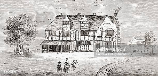 William Shakespeare's House StratfordUponAvon England From The Book Short History Of The English People By JR Green Published London 1893