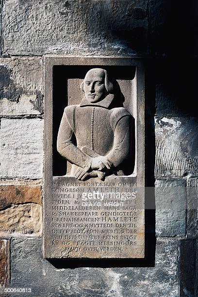 William Shakespeare's tombstone in Kronborg Castle Helsingor Denmark