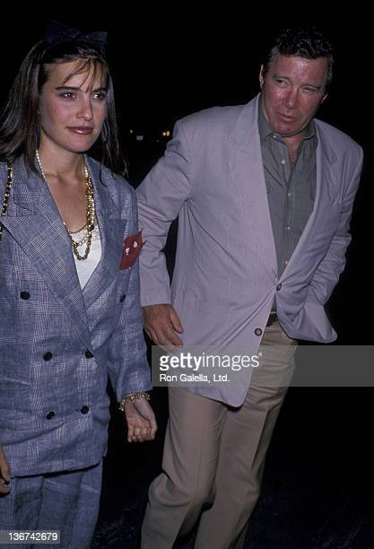 William Shatner and daughter attend the premiere of Who's Afraid of Virginia Woolf on October 5 1989 at the Doolittle Theater in Hollywood California