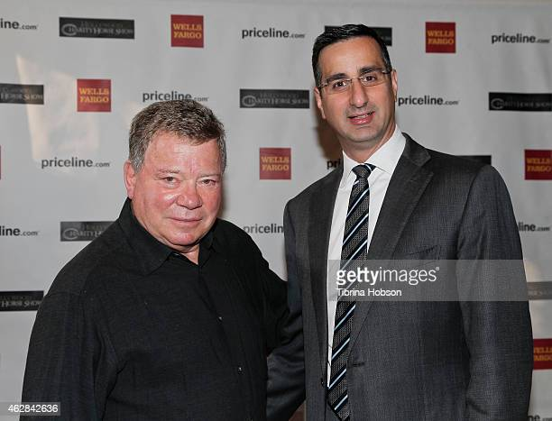 William Shatner and David DiCristofaro host the annual Pricelinecom Hollywood charity horse show at The Six Restaurant on February 5 2015 in Studio...