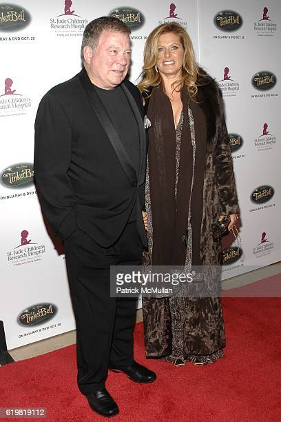 William Shatner and Elizabeth Shatner attend St Jude Children's Research Hospital Runway for Life Gala at The Beverly Hilton on October 11 2008 in...