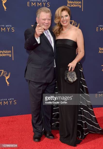 William Shatner and Elizabeth Shatner attend the 2018 Creative Arts Emmy Awards at Microsoft Theater on September 8, 2018 in Los Angeles, California.