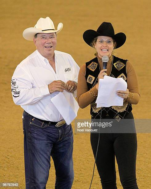 William Shatner and Elizabeth Shatner attend the 20th annual William Shatner's Pricelinecom Hollywood charity horse show at The Los Angeles...