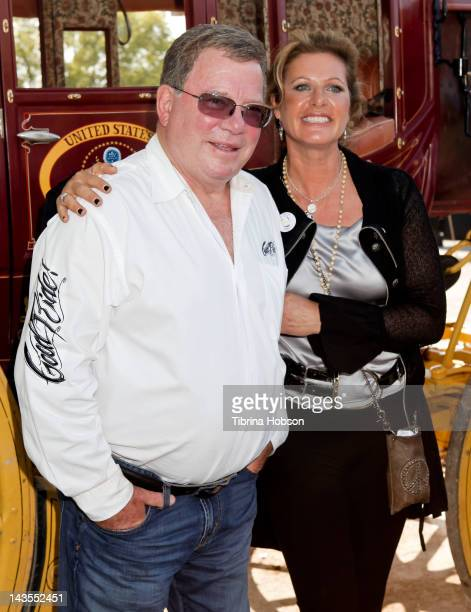 William Shatner and Elizabeth Shatner attend the 22nd Annual Pricelinecom Hollywood Charity Horse Show sponsored by Wells Fargo at the Los Angeles...