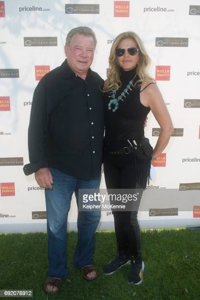 William Shatner and Elizabeth Shatner attend the 27th Annual Pricelinecom Hollywood Charity Horse Show at Los Angeles Equestrian Center on June 3...