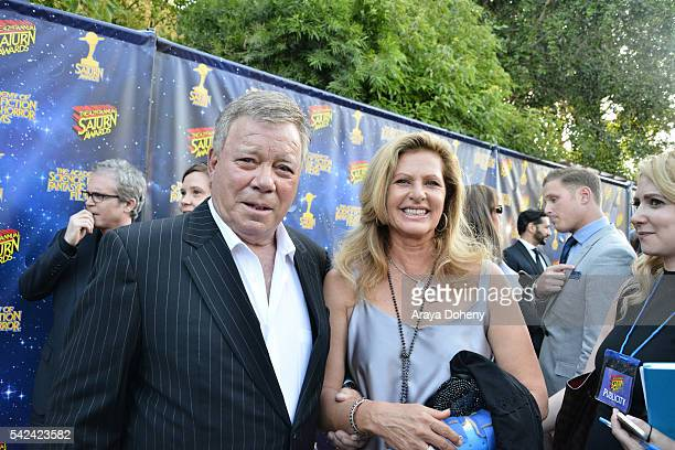 William Shatner and Elizabeth Shatner attend the 42nd Annual Saturn Awards at the Castaway on June 22 2016 in Burbank California