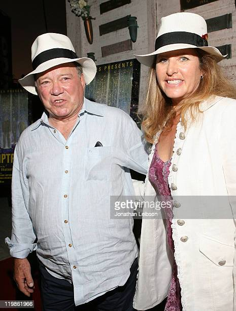 William Shatner and Elizabeth Shatner attend the EPIX The Captains LA Screening at Hollywood Forever on July 25 2011 in Hollywood California