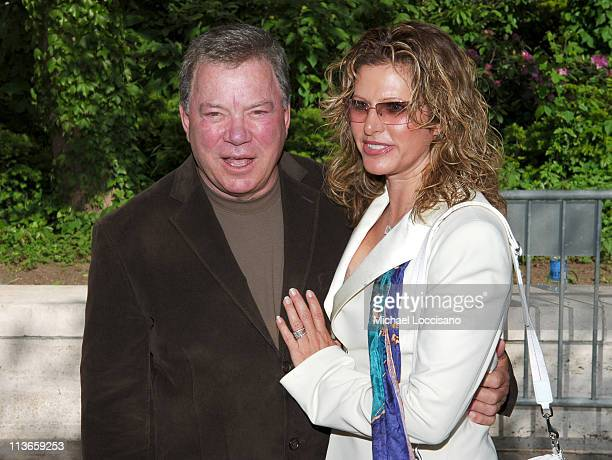 William Shatner and Elizabeth Shatner during 2005/2006 ABC UpFront Arrivals at Lincoln Center in New York City New York United States