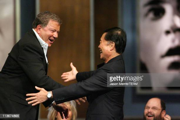 William Shatner and George Takei during Comedy Central's Roast of William Shatner Show at CBS Studio Center in Studio City California United States