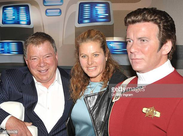 William Shatner and his wife Elizabeth Anderson Martin attend the unveiling of Shatner's wax figure at Madame Tussauds on November 4 2009 in...