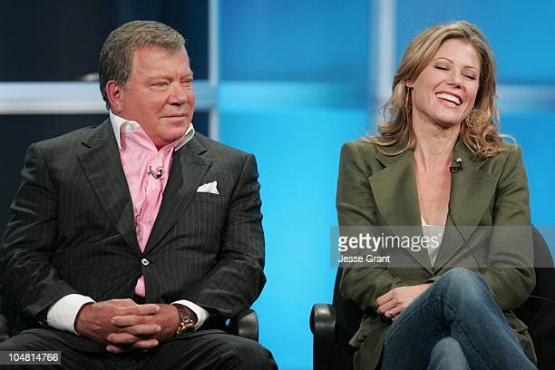 William Shatner and Julie Bowen of Boston Legal during ABC 2005 Summer Press Tour at Beverly Hilton in Beverly Hills California United States