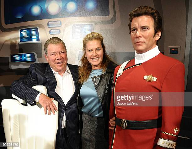 William Shatner and wife Elizabeth Anderson Martin attend the unveiling of a Captain Kirk wax figure at Madame Tussaud's Wax Museum on November 4...