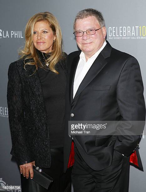 William Shatner and wife, Elizabeth Shatner arrive at LA Philharmonic's Walt Disney Concert Hall 10 Year Anniversary Celebration held on September...