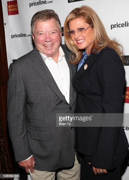 William Shatner and wife Elizabeth Shatner attend Shatner's gifting ceremony for Hollywood charity horse show at Firenze Osteria on January 26 2011...