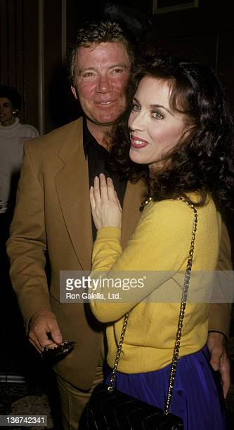 William Shatner and wife Marcy Lafferty attend MotherDaughter Celebrity Fashion Show on March 26 1987 at the Beverly Hilton Hotel in Beverly Hills...